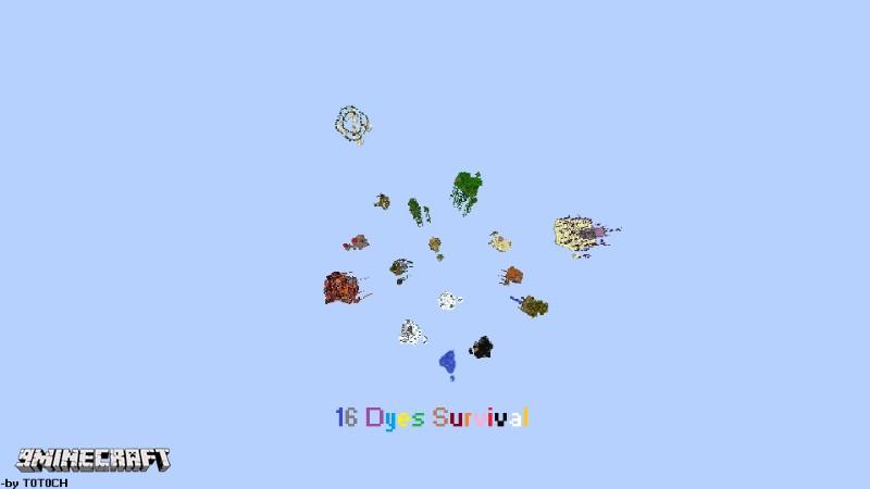 16 Dyes Survival Map